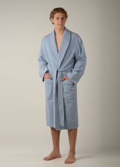 Alpaca Robe - Mens  Nothing better than sinking into a warm soft robe...on a cold winter morning. (not intended as a bathrobe) www.purelyalpaca.com