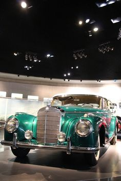 1954 Mercedes-Benz Cabriolet A. The two-door convertible was based on the Mercedes 300 but was fittet with an even more powerful engine. 183 cu in displacement, 108 mph top speed, 6 cylinder. Photo by Mercedes 300, Mercedes Benz Cars, My Dream Car, Dream Cars, Bmw Museum, Daimler Benz, Classic Mercedes, Futuristic Cars, Amazing Cars