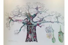 Baobab Tree - Sophie Standing Art | Sophie Standing Art | Textile embroidery art from Africa