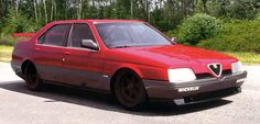 http://chicerman.com  carsthatnevermadeit:  Alfa Romeo 164 Pro-car 1988. Featuring a mid-engine layout and powered by a 3.5-litre V10 engine which was originally planned to be used by the Ligier F1 team and produced 620hp. It was planned to race in a special racing series as a support event to Formula One. However with Alfa Romeo being the only manufacturer to produce a car for this series the project was cancelled.  #cars