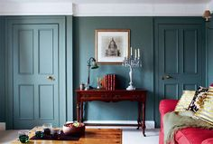 Inspiring hand-picked home accessories, home decor and furniture. Our luxury home accessories UK range includes Farrow & Ball wallpaper and paint. Farrow Ball, Dix Blue Farrow And Ball, Farrow And Ball Living Room, Card Room Green Farrow And Ball, Oval Room Blue, Blue Rooms, Dining Room Paint, Paint Colors For Living Room, Period Living