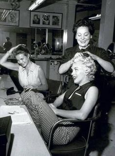 Marilyn at the hairdressers