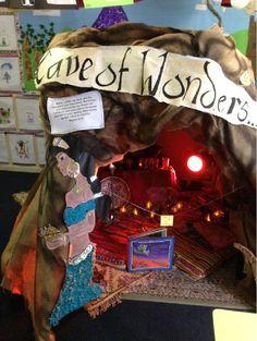 Aladdin's Cave of Wonders classroom display photo - SparkleBox awesome, the kids… Eyfs Classroom, Disney Classroom, Primary Classroom, Future Classroom, School Classroom, Classroom Themes, Classroom Displays Ks1, Primary Teaching, Book Corners