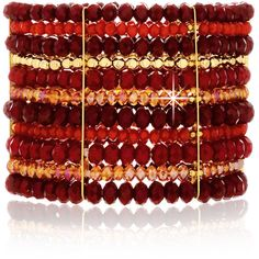 VANITY HER Elodia Crystal Elastic Cuff ($84) ❤ liked on Polyvore