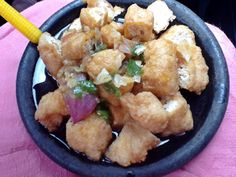 Tahu Gejrot.. Street food from Indonesia Cirebon... Made from Fried Tofu with Chili shallot n sugar cane juice..
