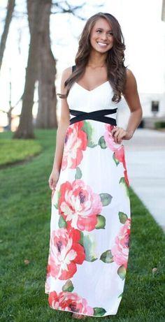 Bohemian Long Floral Chiffon Summer Beach Party Dress