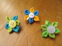 Chunk Blume Anhänger Blümchen Stoff Wechselarmband von Krimskrämerei auf DaWanda.com