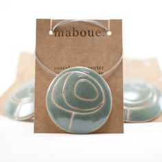 Growing On You in Sage - Round Porcelain necklace