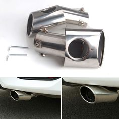 BBQ@FUKA Stainless steel Rear Exhaust End Tail Pipe Muffler Tip Fit For Honda Civic 2016 2017 Car-styling Accessory