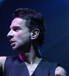 Dave Gahan of Depeche Mode during Paper Monsters