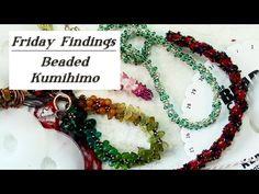 Friday Findings-Beaded Kumihimo - YouTube