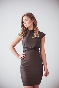 Leather dress by Coo Culte