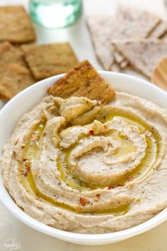 Simple Easy Hummus Without Tahini is super simple to make & perfect for a quick snack. Best of all,less than 10 minutes to prepare & better than storebought