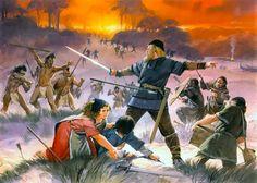 """""""Battle between Vikings and 'Skraelings', 11th century"""", Angus McBride"""