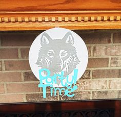 Wolf birthday party decor.