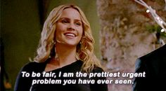 Rebekah in Savior while being hexed