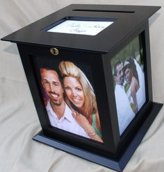 Wedding Money Boxes : Wedding Card Holder With Lock : Gift Card Holders : Wedding Card Box : Wedding Card Boxes Wedding Picture Frames, Black Picture Frames, 10 Picture, Wedding Frames, Wedding Albums, Money Box Wedding, Card Box Wedding, Our Wedding, Dream Wedding
