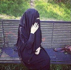 Beautiful Elegance in Black Niqab