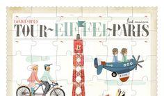 Tour Eiffel puzzle de París, de Londji