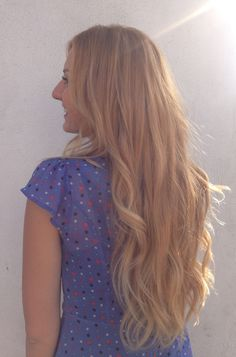 Long golden blonde hair