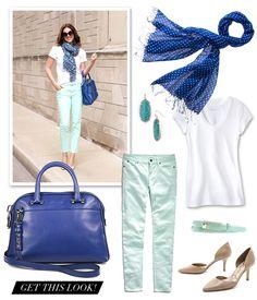 Get the Look | Mint & Cobalt