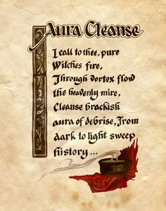 "Book of Shadows:  ""Aura Cleanse,"" by Charmed-BOS, at deviantART. - Useful in times of stress"