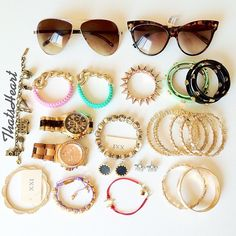 .@thatsheart   Packing for my Florida trip! Accessories first.    Webstagram - the best Instagram viewer