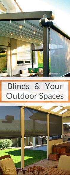 Blinds are the most rewarding option to protect the space and use it in your yard fruitfully, without having to lose the view of the outside! Check out our article and find out more! [Exterior House Ideas, Vertiscreen Blinds, Wire Guide Blinds, Installing Blinds, Exterior Decor Ideas, Veranda Ideas, Outdoor Privacy Blinds, What To Know About Outdoor Blinds]