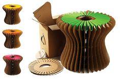 Banquito Mini - Banquito hecho de cartón reciclable