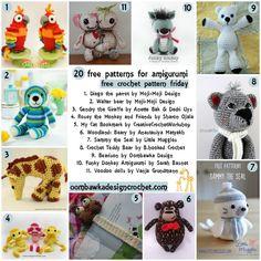 20 Free Patterns for Toys @OombawkaDesign Free Crochet Pattern Friday