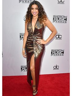 """See how good Jordin Sparks looks? """"There's an old red carpet trick that really makes you look confident and sleek,"""" says Cavaco. """"Turn your body about 45 degrees to the side, swivel your shoulders towards the camera, plant one foot slightly in front of the other, and put all of your weight on your back leg. It simultaneously slims the waist, lengthens the legs, and makes you look taller. If you like the hand-on-hip pose and you have a short torso, place your hand lower than your actual…"""