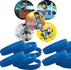Disney Miles From Tomorrowland Stickers & Wristbands. Easy Party Favors