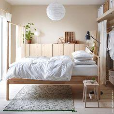 WEBSTA @ ikeadeutschland - Puristischschlafen.#LISABO#minimalistisch#Holz#GJÖRA #IVAR #ÄNGSLILJA #meinIKEA