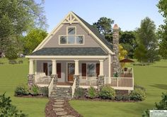 Plan 75565GB: 2 Bed Bungalow House Plan with Vaulted Family Room ...