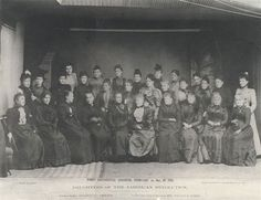 Founders and chapter members of the Daughters of the American Revolution.  First Continental Congress, 1892.