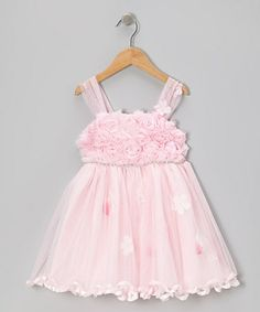 Take a look at this Pink Rosette Glamour Dress - Infant, Toddler & Girls by Little Mass on #zulily today!