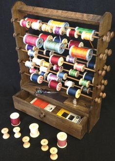 love this antique thread holder!!