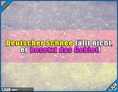 Vielleicht hat deswegen die Deutsche Bahn so Schwierigkeiten ^^ Lustige Sprüche #Sprüche #Deutschland #Winter #Wintereinbruch #DeutscherSchnee #nurSpaß #Wortspiel #lustig