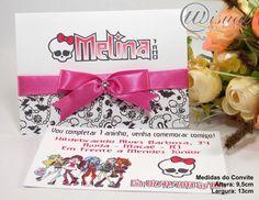 Convite Infantil Monster Hight