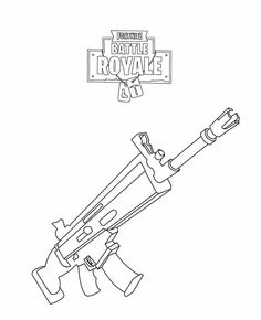 Fortnite Rifle Scar Coloring Page