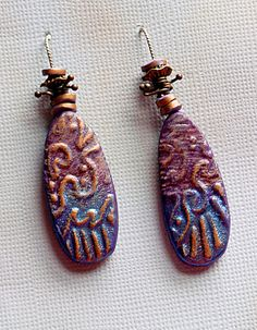 Walkabout Earrings - Polymer Clay by Stories They Tell, via Flickr - Christine Damm