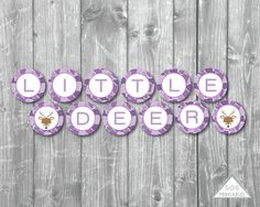 Little Deer Banner, Little Deer Baby Shower, A little Deer is almost here, Baby Shower Banner, Purple Camo baby shower, camouflage