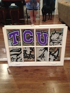 TCU window art