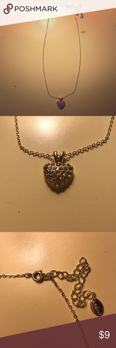 2 sided beautiful heart necklace! Beautiful 2 sided necklace with heart, never used! Great condition!! Claire's Jewelry Necklaces