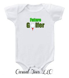 Future Golfer Baby Bodysuit Baby Boy Baby Girl or by CasualTeeCo, $14.00