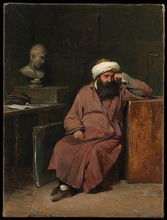 Man in Oriental Costume in the Artist's Studio Auguste-Xavier Leprince (French, Paris 1799–1826 Nice)