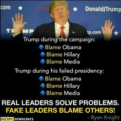 Blame is never good, always the sign of guilt on the blamer || & always the sign of a stupid supporter of the blamer! ||
