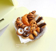 Hey, I found this really awesome Etsy listing at https://www.etsy.com/listing/227261630/miniature-pastries-in-a-basket