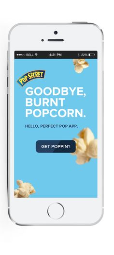 An app that HEARS your popcorn popping AND tells you when it is done? Yep, there is an app for that! http://ooh.li/27b23bb
