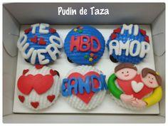 Caja de cupcakes por amor y cumpleaños.